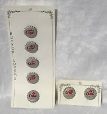 RARE Diet Coke Button Covers and Diet Coke Clip Earrings Lot - T1