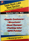Table Rock Lake West Section Detailed Fishing Map, GPS Points, Waterproof #L156