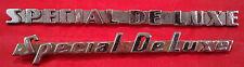 Plymouth Car Badge Emblem Pair 1940s-50s Special De Luxe OEM Metal Letters VTG