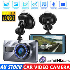 1080P Car Dash Camera Front and Rear Dual Lens DVR Video Recorder Night Vision