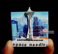 TOURIST SOUVENIR 3D Travel Fridge Magnet - Space needle , Seattle , USA