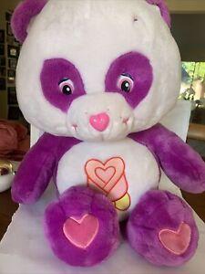 "Care Bear Purple  Polite Panda 23"" Xlarge Plush Near Mint Vintage"