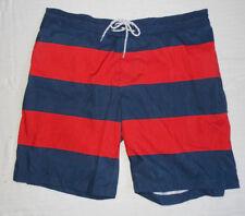 56656ba960 Men's St Johns Bay Navy Blue & Red Striped Swim Trunks Size ...