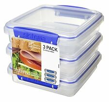 Sistema 3 Pack Sandwich 450 ml, 15.2 oz, 1.9 cups- 1643 Sandwich Box NEW