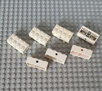 Lego 7049 5x Achse 2x4 weiß weiss Reifen Halter 329 722 120 (81)