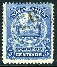 Nicaragua 1905 Bluefields 5¢ Overprint VFU Q414