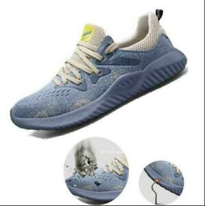 Sports Lightweight Safety Shoes for Men Women Steel Toe Trainers Work Shoes
