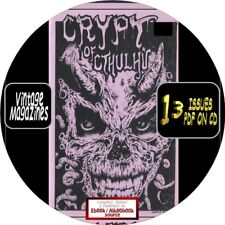 CRYPT OF CTHULHU MAGAZINE - 13 VINTAGE ISSUES - PDF FILES ON CD - HORROR