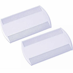 2 Pieces White Double Sided Nit Combs for Head Lice Detection