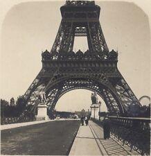 Paris Tour Eiffel du Pont d'Iéna Stéréo Stereoview Vintage ca 1920
