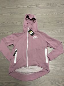 NWT Nike NSW Tech Fleece Cape Hoodie Full Zip Jacket 930757 685 PINK Womens S