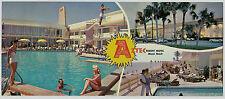 Miami Beach FL = AZTEC RESORT MOTEL, Collins Ave, Oversize = FLORIDA