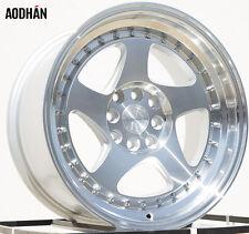 AODHAN AH01 16x8 4x100 / 4x114.3 +15 Silver Machined Face and Lip (PAIR) wheels