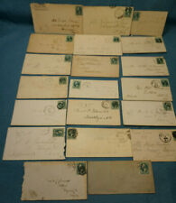 1875-81 US Cover Lot (20) 3 Cent Green Washington Postage Stamp