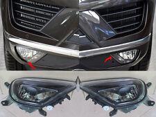 Fit For VW Touareg 15-18 LED Car Front Hood Fog Light Bumper Lamps Lens Sets