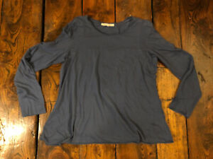 Cabbages And Roses Marine Blue Fine Cotton Layering Top XL