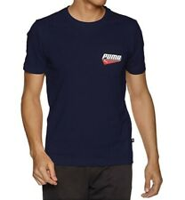 Puma Men's Printed Pocket Tee Color Peacoat 854077 Size S New with tag