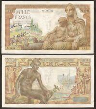 FRANCE 1000 Francs 28.01. 1943 AU P 102