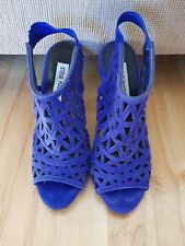 Steve Madden Bratt Blue Cut Out Open Peep Toe Bootie Stiletto Sandal Heels 6.5
