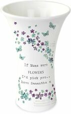 Personalised Forget me not Ceramic Vase - For Her Anniversary Birthday
