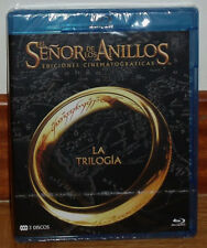 TRILOGIA EL SEÑOR DE LOS ANILLOS 3 BLU-RAY NUEVO PRECINTADO ACCION (SIN ABRIR)