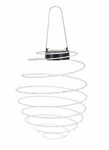 LED Solar Lampion Spirale - 40 LED warmweiß - Garten Hänge Leuchte Lampe Laterne