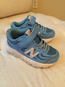 Toddler Girl New Balance Blue Running Tennis Athletic Shoes Sneakers Size 7 Wide