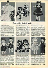 1953 ADVERT Effanbee Miss Lollipop Doll Twin Brother Sister Boy Girl Bride Groom