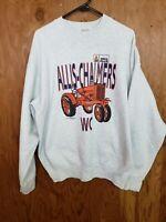 Vintage 80s 90s Allis Chalmers AGCO Deutz Allis Tractor Farm Work Sweatshirt XL