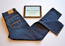 Abercrombie & Fitch JEANS NUOVO classico Aviator da uomo blu navy scuro NUOVO CON ETICHETTA W30 L32 -