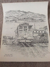 """Gil McCue Signed """"Cable Car Fever"""" Lithograph"""