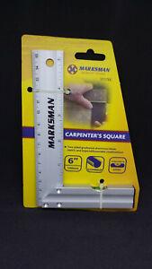 "160mm 6"" square Precision Aluminium Carpenters Marking Out Square with Level"