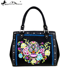 Montana West Handbag Skull Collection Black NEW!