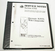 Lotus Esprit Turbo 88 MY Service Notes Section EMH Electronic MPFI Charge Cooler