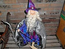 "Franklin Heirloom Dolls Gandolf Lord Of The Rings 24"" Tall With Hat & Staff"