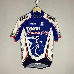 Squadra Blue Genentech American Cycling Bike Jersey Size Large