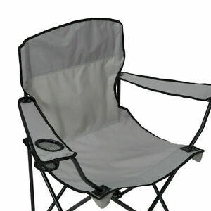 Grey Reclining Folding Outdoor Camp Fishing Chair Breathable Portable 2021 New S