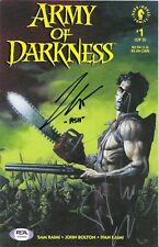 """BRUCE CAMPBELL & TED RAIMI SIGNED ARMY OF DARKNESS #1 """"GREAT FOR CGC"""" PSA DNA"""