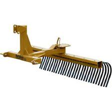 New! 6' Medium Duty Landscape Rake Tractor Attachment Category 1!