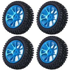 75mm RC Alloy Wheel Blue Rally Tire Tyre for WL 1/18 A959 A979 A969 Racing Car