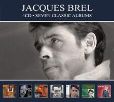 Jacques Brel SEVEN CLASSIC ALBUMS (RTRCD20) Grand Jacques AU PRINTEMPS New 4 CD
