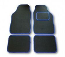 Renault Grand Scenic (03-09) Black & bordure bleu voiture Tapis de sol