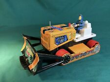 Vintage 1960's TPS Battery Operated U-Turn Tin Bulldozer Tractor T.P.S. Japan