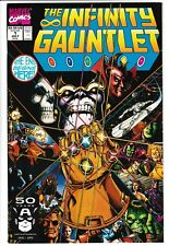 **INFINITY GAUNTLET #1**(1991 MARVEL)**CLASSIC THANOS COVER**1ST PRINT!**VF**