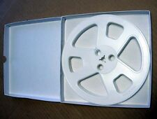 "7"" x 1/4"" plastic tape reel (1) with box Beautiful WHITE reel"