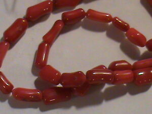 5 Strands Red Coral Beads  Branch 5mm to 12mm Long Nice Beads