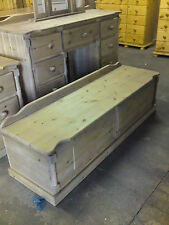 PINE FURNITURE BUCKINGHAM 5FT EXTRA LARGE MED OAK WAXED OTTOMAN BOX NO FLATPACK