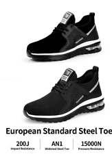 Mens Safety Shoes Steel Toe Cap Lightweight Work Boots Sneakers Hiking Trainers