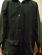Laird Men's Green Hunting Jacket  Waxed waterproof with detachable Hood size 42