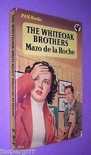 1957. THE WHITEOAKS BROTHERS. MAZO DE LA ROCHE. 1st EDITION PAN PAPERBACK 405.
